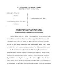 Motion to Compel - Judicial Watch