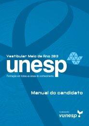 Manual do candidato - Vestibular Unesp