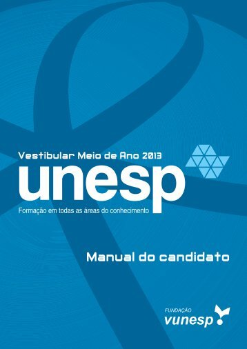 Manual do candidato - Vestibular Unesp
