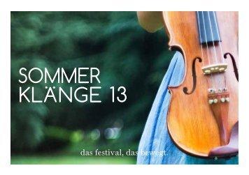 das festival, das bewegt. - Festival Sommerklänge