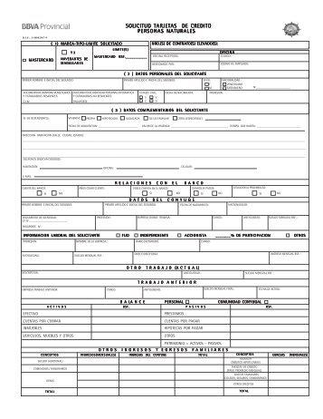 Solicitud Tarjeta de Credito PN Navegantes (11 ... - Banco Provincial