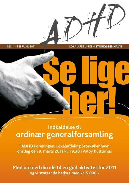 Indkaldelse til ordinær generalforsamling - ADHD: Foreningen