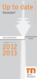 Up to date 2012 2013 - Messe Düsseldorf