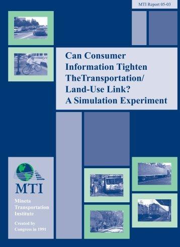 PDF Version - Mineta Transportation Institute - San Jose State ...