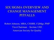 Six Sigma Presentation - ASQ-1302