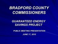 HERE - Bradford County, PA