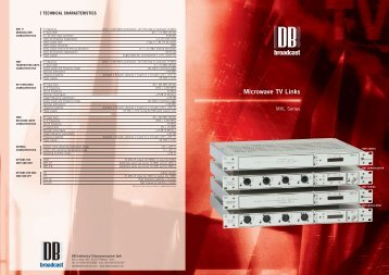 Technical Brochure - DB Broadcast