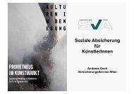 Soziale Absicherung für KünstlerInnen - IG Bildende Kunst