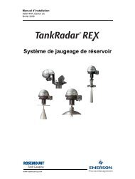 Système de jaugeage de réservoir - Rosemount TankRadar