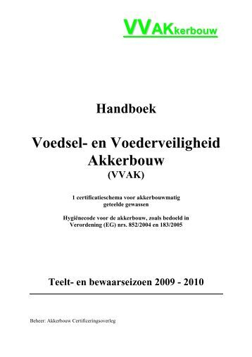 VVAK Handboek 2009 def - Productschap Akkerbouw