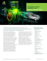 NVIDIA Quadro 6000 data sheet (features-benefits) - Marketwire