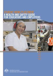 Student Work Placement Guide - Safe Work Australia