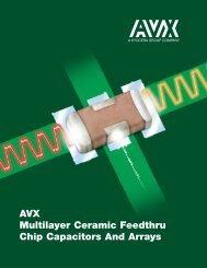 AVX Multilayer Ceramic Feedthru Chip Capacitors And Arrays