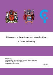 Ultrasound in Anaesthesia and Intensive Care - A Guide to ... - aagbi