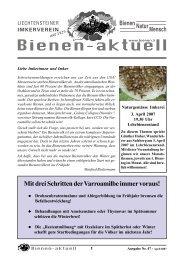 bienen-aktuell Nr. 47.pmd - Liechtensteiner Imkerverein