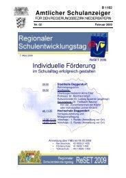 Schule aktuell - Die Regierung von Niederbayern