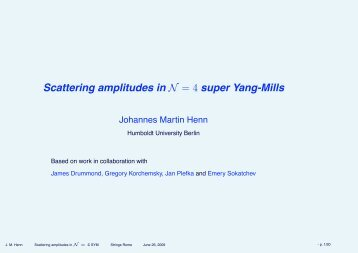 Scattering amplitudes in N = 4 super Yang-Mills - strings 2009