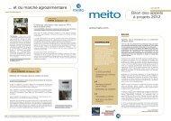 Télécharger le Bilan AAP 2012 - La Meito