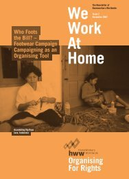 We Work At Home Organising For Rights - Homeworkers Worldwide
