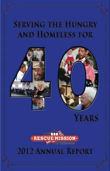2012 Annual Report - Rescue Mission Alliance