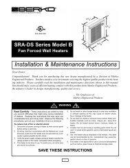 Installation Instruction Sheet