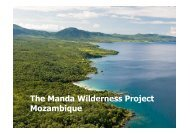 The Manda Wilderness Project Mozambique