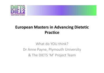 European Masters in Advancing Dietetic Practice - Diets