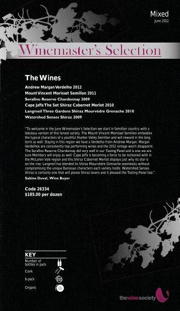 Winemaster's Selection June 2012 - Mixed - The Wine Society