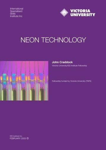 NEON TECHNOLOGY - International Specialised Skills Institute