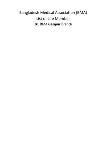 Gazipur - BMA