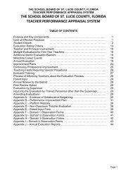Teacher Performance Appraisal Process - St. Lucie County School ...