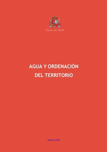 Agua y ordenación del territorio - Defensor del Pueblo