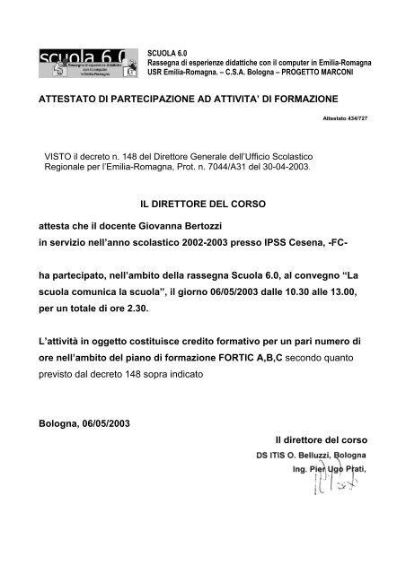 Fc Ufficio Ix Bologna Ufficio Scolastico Regionale Per L Emilia