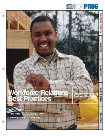 Workforce Relations Best Practices