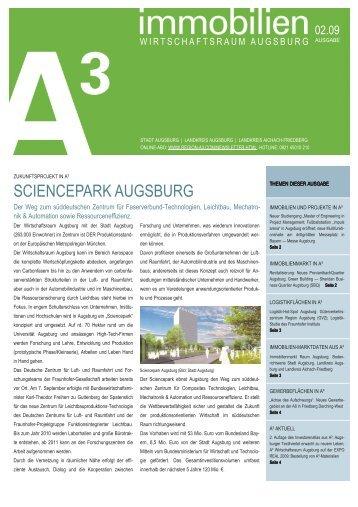 immobilien A³ 02/09 - im Wirtschaftsraum Augsburg.