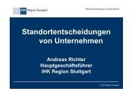 Standortentscheidungen von Unternehmen - Verband Region Stuttgart