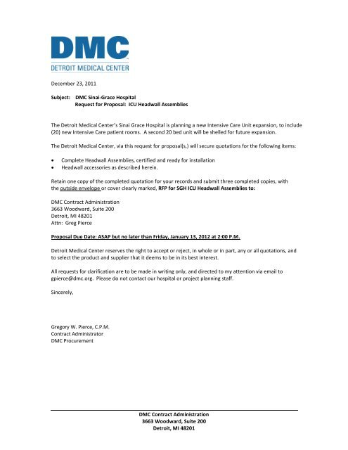 DMC Sinai-Grace Hospital Re - Detroit Medical Center