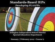 Power-point Presentation - Arlington Independent School District
