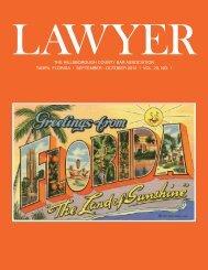 October 2012 Lawyer Magazine - Hillsborough County Bar ...