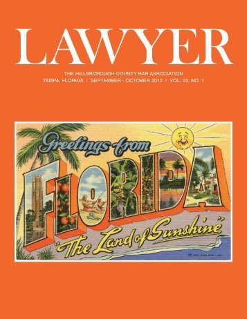October 2012 Lawyer Magazine - Hillsborough County Bar ...