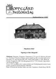 Medlemsblad nr 2/2007 - Oppegård Historielag