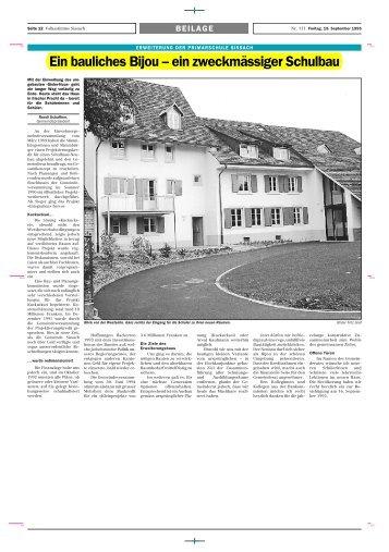 Ein bauliches Bijou – ein zweckmässiger Schulbau - Musikverein ...