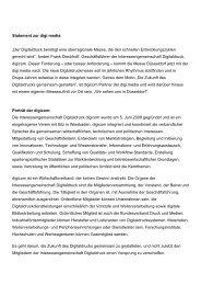 """Statement zur digi:media: """"Der Digitaldruck ... - Messe Düsseldorf"""