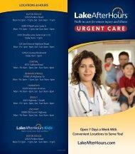 Lake After Hours Brochure - Total Occupational Medicine