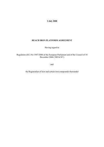 Download the Consortium Agreement here - The Iron Platform
