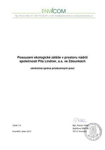 Posouzení ekologické zátěže v prostoru nádrží ... - Město Kroměříž