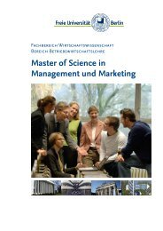 Master of Science in Management und Marketing - Fachbereich ...