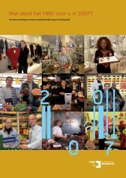 Wat deed het HBD voor u in 2007? - Hoofdbedrijfschap Detailhandel