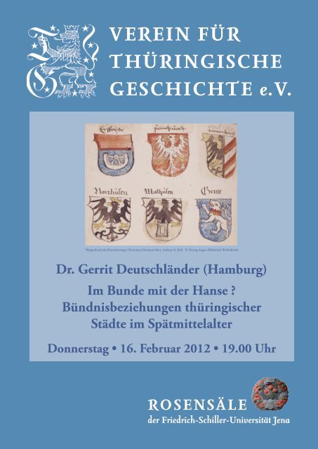 Dr. Gerrit Deutschländer (Hamburg) - Verein für Thüringische ...