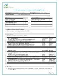 PAMZ Communication Committee Meeting Minutes